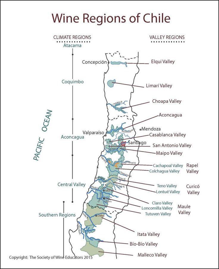 Wine Regions of Chile #wine #wineeducation #chile