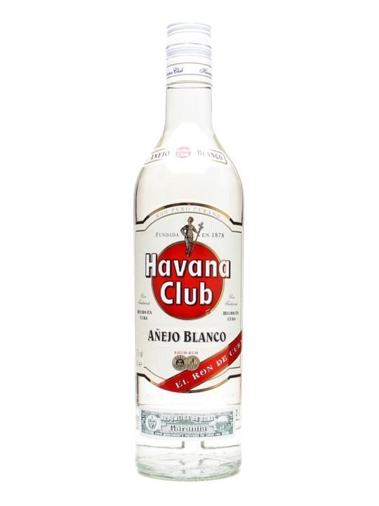 Havana Club Anejo Blanco Rum : £16.75 Buy Online - The Whisky Exchange - Still being distilled in Cuba, this delightful white rum is what the islanders use for their Mojitos.  And if it's good enough for them...