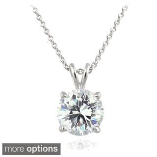 AMDXD Jewelry Sterling Silver Women Pendant Necklace Apple Cubic Zirconia as Birthday Gift UseklHrr