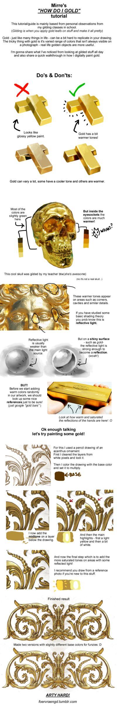 Tutorial: Painting Gold by FOERVRAENGD.deviantart.com on @DeviantArt