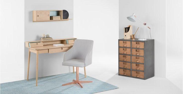 Penn Desk, Pale Ash and Eton Blue   made.com