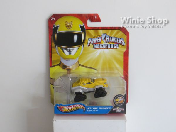 YELLOW RANGER - TIGER ZORD - 2013 HOT WHEELS SABAN'S POWER RANGERS MEGAFORCE SERIES