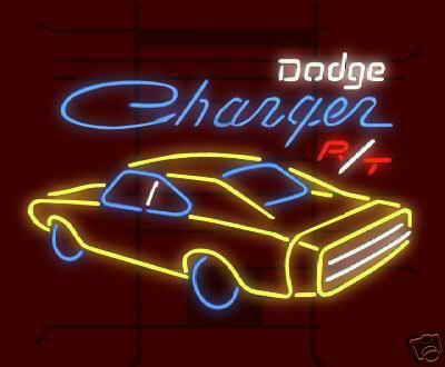 Dodge Charger Rt Hemi Custom Neon Sign Neon Pinterest