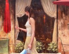 Limited edition giclee on canvas titled The Center Of Attention by Daniel Del Orfano
