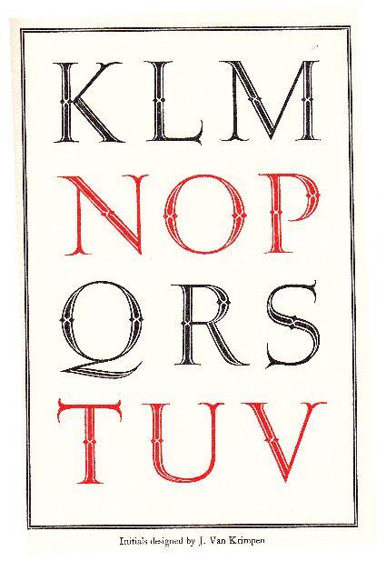 Initials by J. Van Krimpen