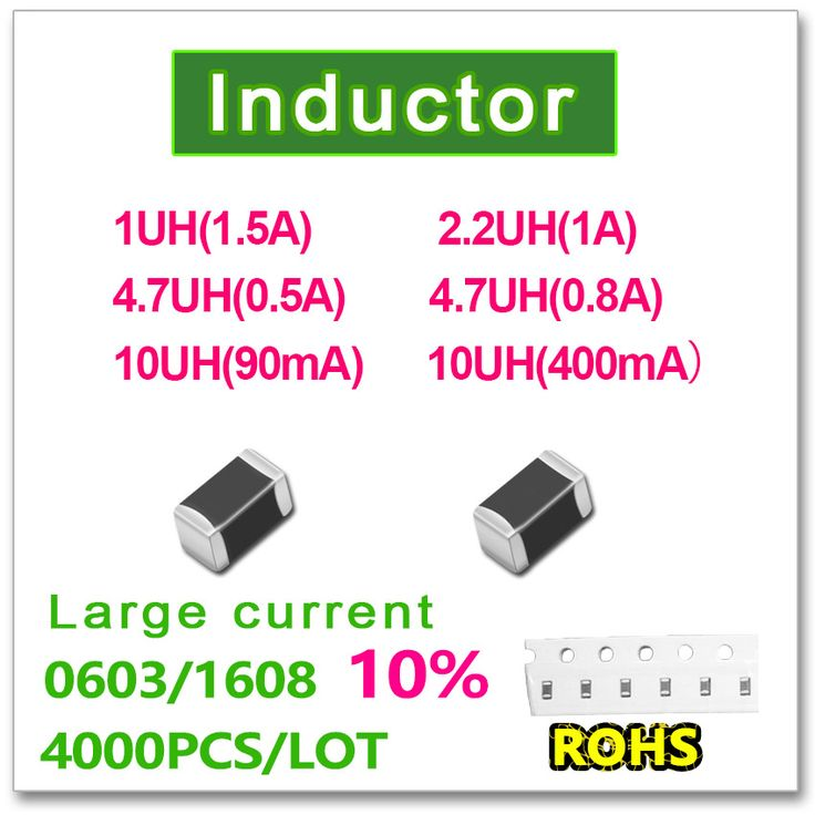 0603 1608 4000PCS SMD High current inductance 10% 1UH(1.5A) 2.2UH(1A) 4.7UH(0.5A) 4.7UH(0.8A) 10UH(0.09A) 10UH(0.4A) Black chip #Affiliate