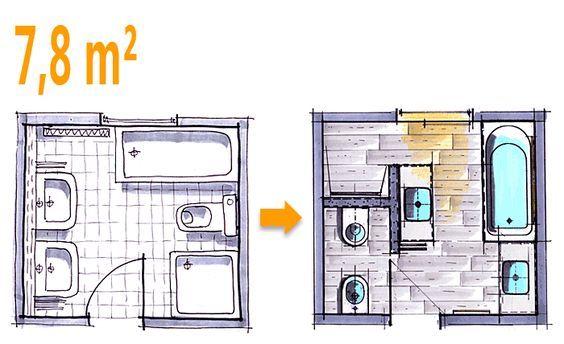 Die besten 25 badezimmer 8 qm planen ideen auf pinterest for Wohnideen 25 qm