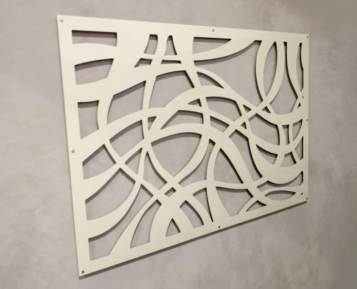 QAQ's decorative screen 'Espressivo' design in cream-colored, powder-coated ACM installed at our stockist Living Effects in Derrimut.