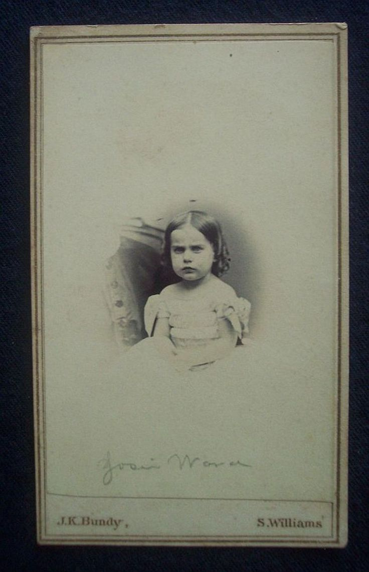 Civil War CDV 1860's Photograph Tax Stamp Girl Josie Wara New Haven Ct | eBay