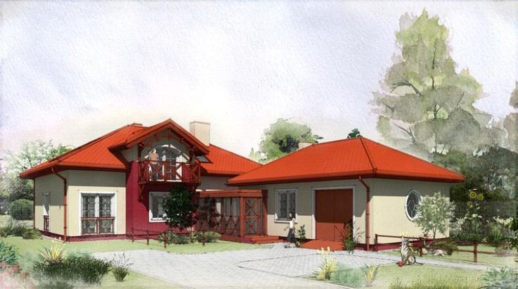 Private house - unrealviz - rendering  Digital #watercolor.