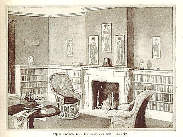 1913 illustration edwardian living room home pinterest living rooms room and interiors. Black Bedroom Furniture Sets. Home Design Ideas