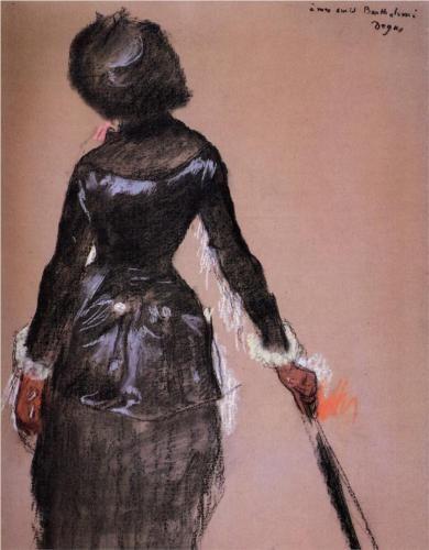 Edgar Degas, Study for Mary Cassat at the Louvre