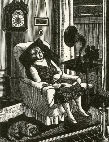 'The Grandmother' by Tirzah Ravilious (née Garwood), 1929 (wood engraving)