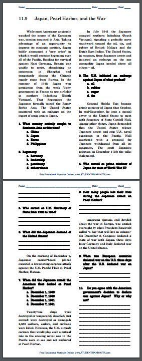 free printable history worksheets for high school cold. Black Bedroom Furniture Sets. Home Design Ideas