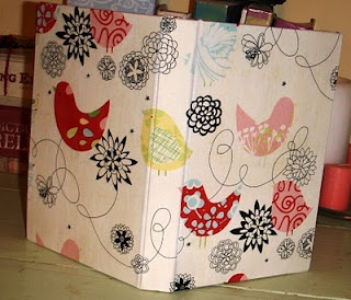 book binding tutorial with fabric and mod podge