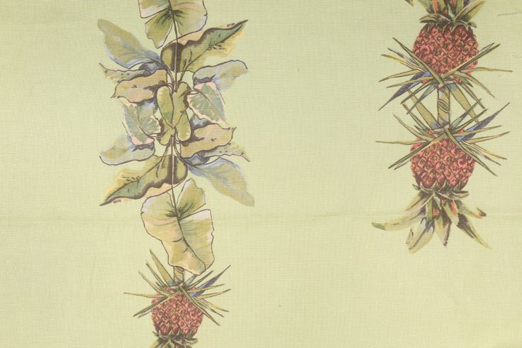1 Yard Tropical Fabrics & Wallpaper Printed Linen Blend Drapery Fabric. This printed fabric is perfect for window treatments, decorative pillows, handbags, light duty upholstery applications and...