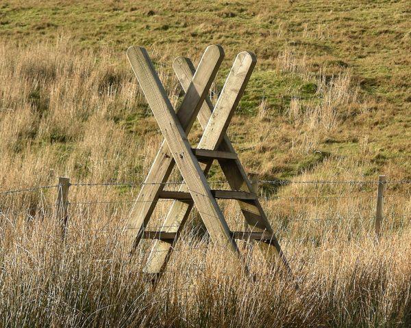 Portable Fence Stile | stile, turnstile, before turnstiles, turnstiles