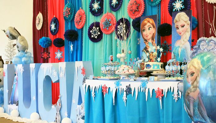 frozen candy buffet | Disney Frozen Themed Party | Lucia's 1st Birthday