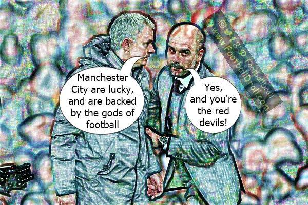 José Mourinho Says Manchester City are Lucky #Mourinho #Guardiola #ManCity #Derby #Pogba #ManUnited #Chelsea #CL #EPL #ManchesterUnited #Ibrahimovic #Lukaku #Liverpool #ChampionsLeague #Arsenal #Spurs #Messi #Ronaldo #FCBarcelona #Jokes #Comic #Laughter #Laugh #Football #FootballDroll #Funny #CR7 #RealMadrid