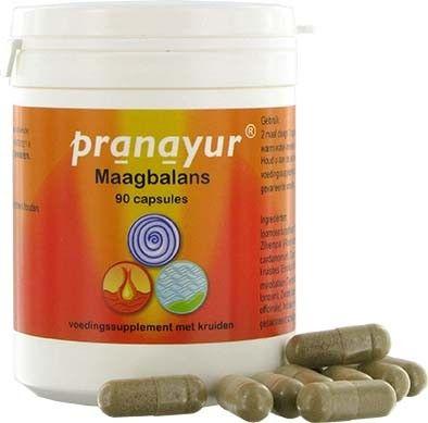 Pranayur Maagbalans  Description: Pranayur Maagbalans is gebaseerd op een klassieke Ayurvedische formule die al eeuwenlang voor de maag wordt gebruikt. De formule ondersteunt een goed zuur-base evenwicht in de maag en helpt de maagwand te beschermen. Een van de bestanddelen is Yasthimadhu (Glycyrrhiza glabra) bij ons beter bekend als zoethout.Pranayur Maagbalans bevat tevens twee van de meest bekende kruidensamenstellingen in Ayurveda namelijk Trifala (Emblica officinalis Terminalia chebula…