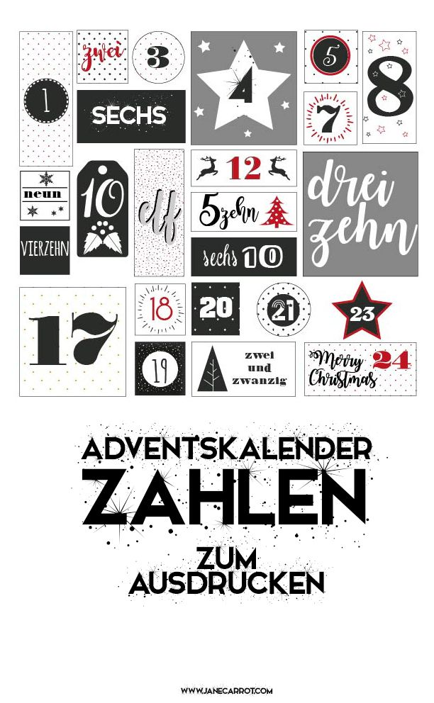 die besten 25 adventskalender zahlen zum ausdrucken ideen auf pinterest adventskalender. Black Bedroom Furniture Sets. Home Design Ideas