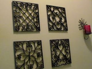 Quadros Vazados - Com papelão imitando metal ~ Recicle sua Casa