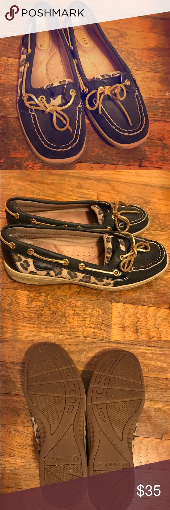 Sperry Top-Siders Brown and leopard sperrys, a little worn but still in great condition. Sperry Shoes