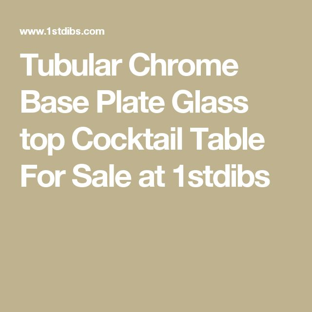 Tubular Chrome Base Plate Glass top Cocktail Table For Sale at 1stdibs