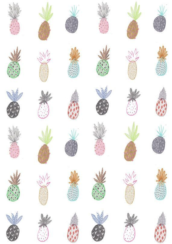 Amyisla McCombie. Love the assortment of pineapples in more than just yellow