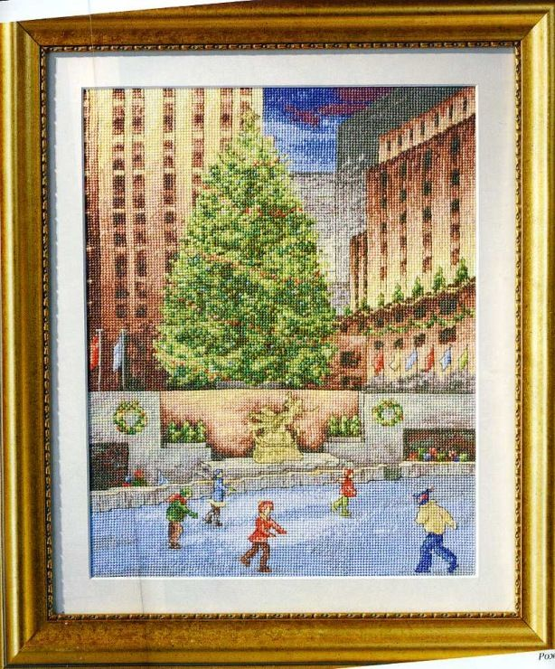 (1) Gallery.ru / Рождество в Нью-Йорке - Вышитые картины 12 2007 - mailviolin