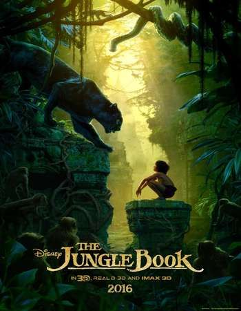 Poster Of The Jungle Book 2016 Dual Audio 720p HDCAM [Hindi (Cleaned 2.0) - English] Free Download Watch Online