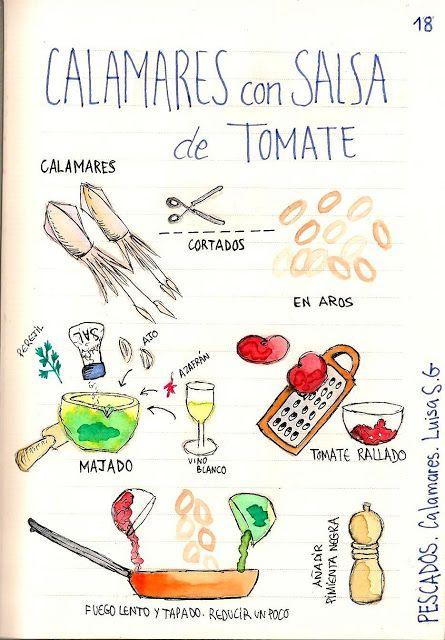 calamares con salsa de tomate