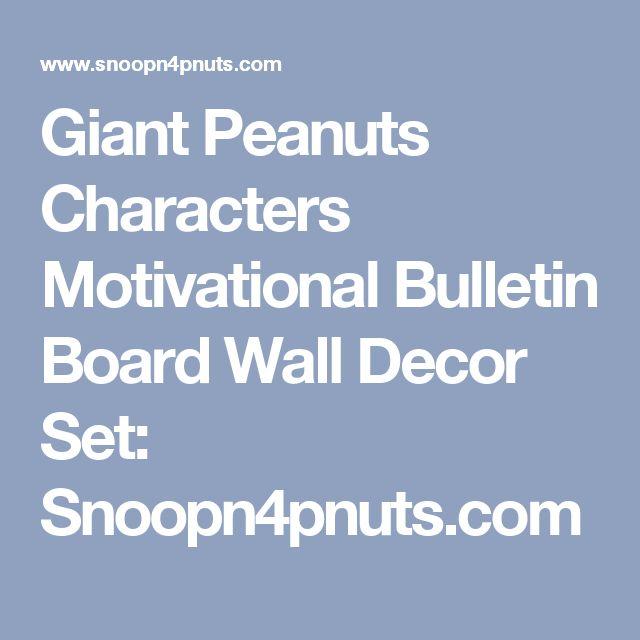Giant Peanuts Characters Motivational Bulletin Board Wall Decor Set: Snoopn4pnuts.com