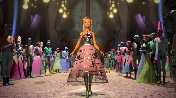 Barbie wearing the dress given to her by her mother