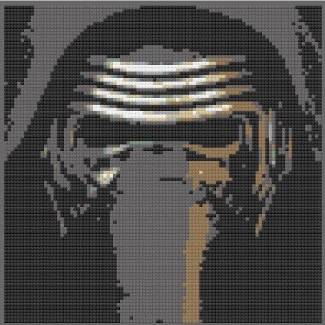 Lego Stormtrooper Mosaic Darth Vader Maul Kylo Ren by FanVictory