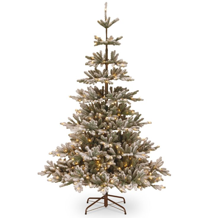 national tree co imperial 75 spruce artificial christmas tree with 450 clear lights - National Christmas Tree Company