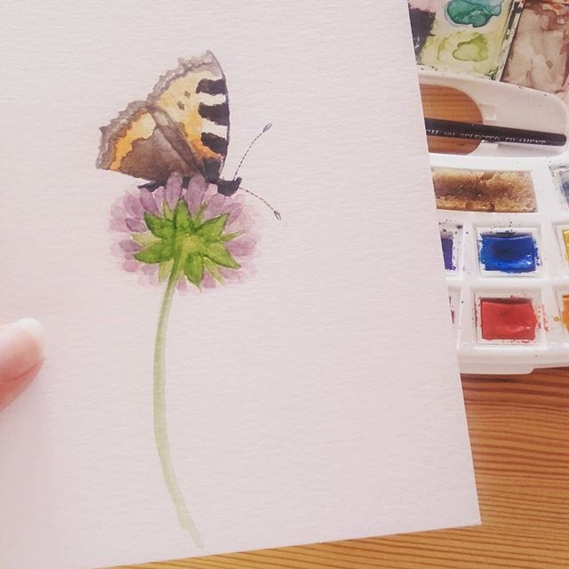 Working On A Collection Of Little Delicate Watercolors Made With