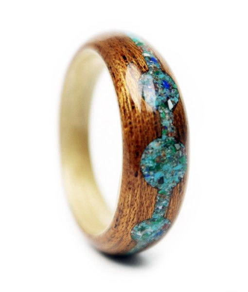 """""""Breaking Traditions"""" Crushed Stone & Mahogany Engagement Ring"""