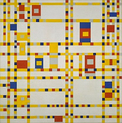 Piet Mondrian: Broadway Boogie Woogie, 1942-1943, oil on cancas, 127 x 127 cm, MOMA, New York