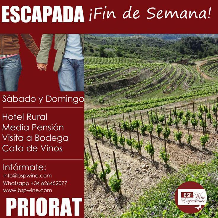 #escapada #romantica en el #priorat #spain #enoturismo #bodegas #vinos #catas #hotel #rural Escapa de la #Selva de Cemento info@bspwine.com www.bspwine.com