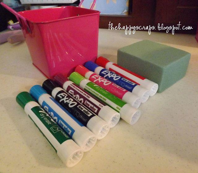 Dry Erase Marker Bouquet - Teacher Gift - The Happy Scraps