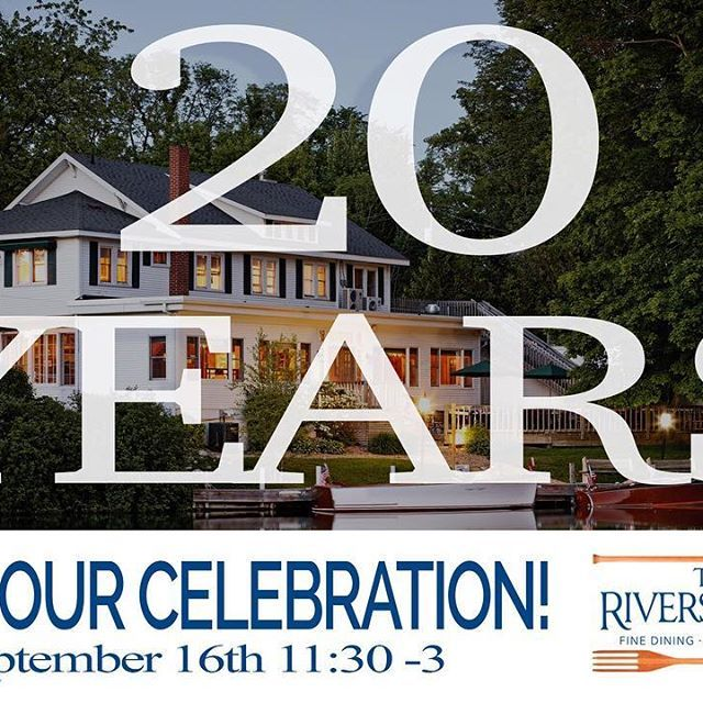 Join us to celebrate our 20th Anniversary!  We will be hosting an open house during the Heritage Festival on Saturday, September 16th, 11:30-3pm.  Blind Dog Hank will be playing on our deck from 12-3pm and we will be serving a complimentary light luncheon buffet with a cash bar. Watch for our Dinner for 2 + Rivergirl Cruise Giveaway coming soon!  .  .  .  #riversideleland #riversideinn20 #mynorthmedia #upnorth #lelandmi #leland #fishtownleland #rivergirl #blinddoghank #heritagefestival…
