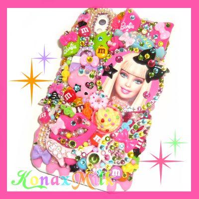 バービー★デコカバー★スマートフォン用(Barbie/ケース/スマホ/iPhone4s/iPhone5/GALAXY/Xperia)参考用 - デコ電・デコ小物ショップ『★KONAxMILK★』