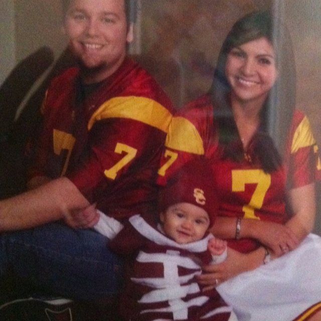 usc baby football football player and cheerleader costumes fun family halloween costumes - Infant Football Halloween Costume
