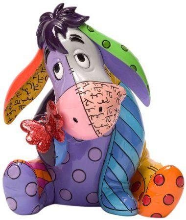 Romero Britto Disney Eeyore 7in Figurine
