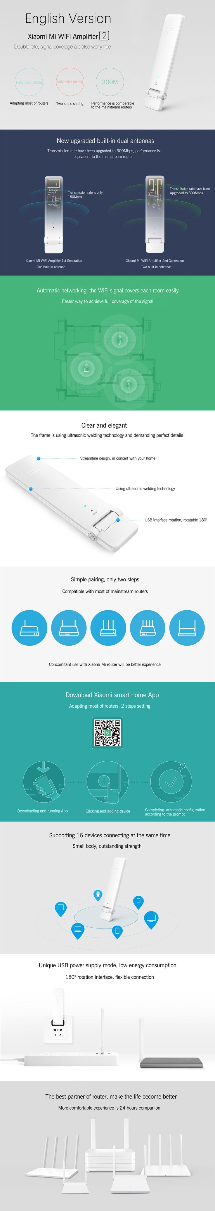 The new Xiaomi Mi 300Mbps WiFi Repeater now allows you to experience a strong wifi single from anywhere in your house.