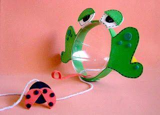 Reciclagem e Sucata: Fazendo Brinquedos - Bilboquê