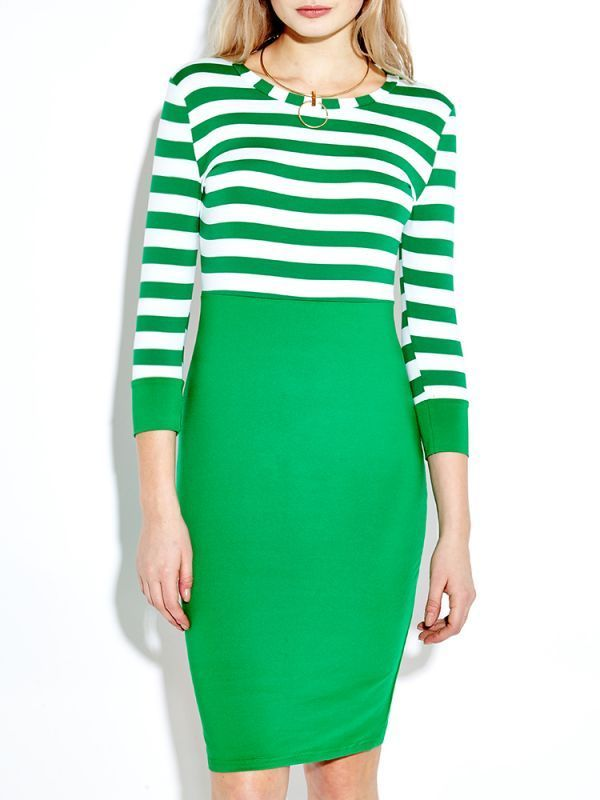Striped patchwork half sleeve pencil dresses for women casual dresses house of fraser #3/4 #length #casual #dresses #casual #dresses #boy #casual #dresses #jeans #casual #dresses #london