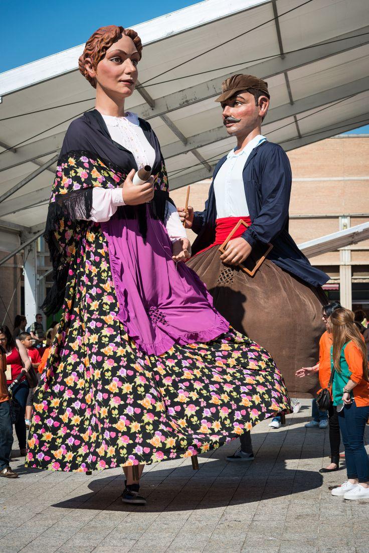 Els Gegants de Vilassar de Dalt ballant