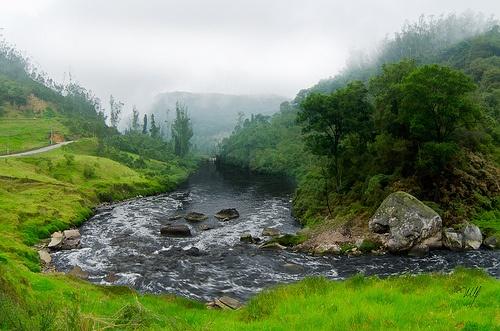 Rio Bogotá despúes de Soacha